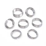 Cadres en laiton, anneau, platine, 13x2mm, Trou: 1.4mm