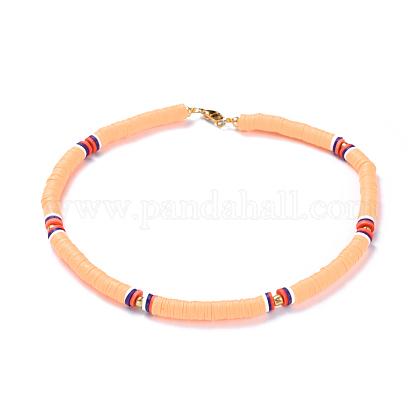 Colliers de foulard en perles de polymère faites main en pâte polymèreNJEW-JN02446-02-1