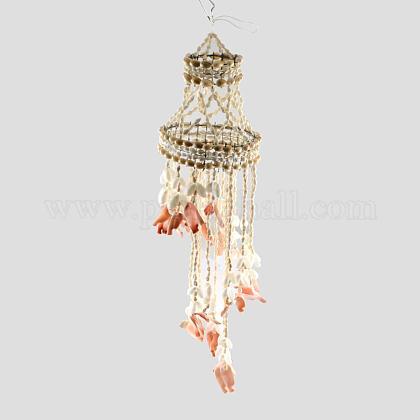 Dyed Seashell Aeolian BellsAJEW-Q108-03-1