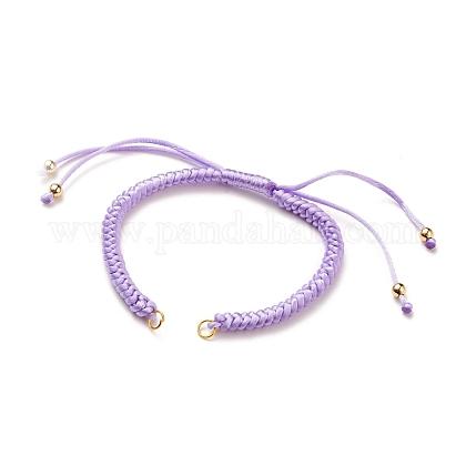 Fabrication de bracelet en nylon tressé réglableAJEW-JB00762-02-1