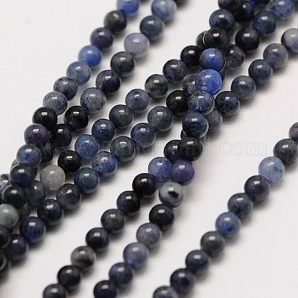 Natural Gemstone Sodalite Round Beads StrandsX-G-A130-2mm-16-1