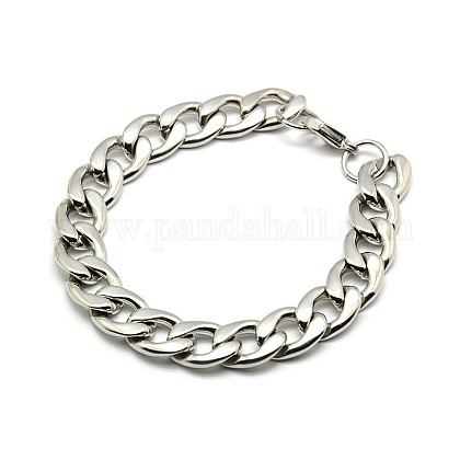 Cadena de bordillo de 304 acero inoxidable / pulseras de cadena trenzadaX-STAS-A028-B127P-1