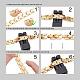 Shegrace® brazaletes de banda de reloj de cadena de pantera de acero inoxidableJB676A-4