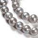 Hebras de perlas de agua dulce cultivadas naturalesPEAR-S012-74-3