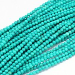 Natural Sinkiang Turquoise Round Bead Strands, Dyed & Heated, MediumTurquoise, 3mm, Hole: 0.5mm; about 133pcs/strand, 15.55inches