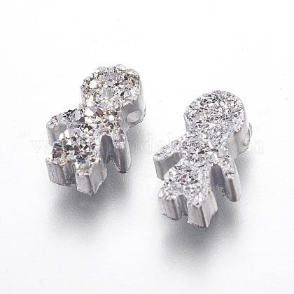 Perlas de resina de piedras preciosas druzy imitaciónRESI-L026-G01-1