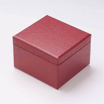 Light Cover Paper Jewelry Ring BoxOBOX-G012-01B-1