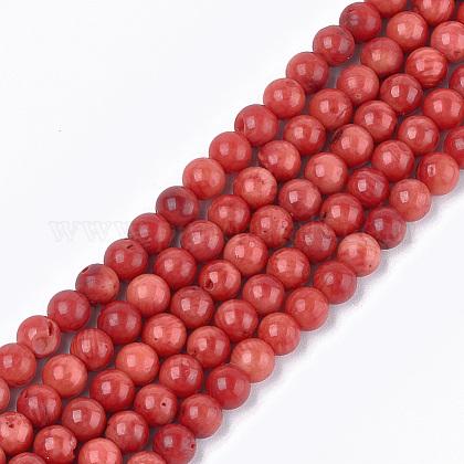 Sea Bamboo Coral(Imitation Coral) Beads StrandsX-CORA-T009-32D-01-1