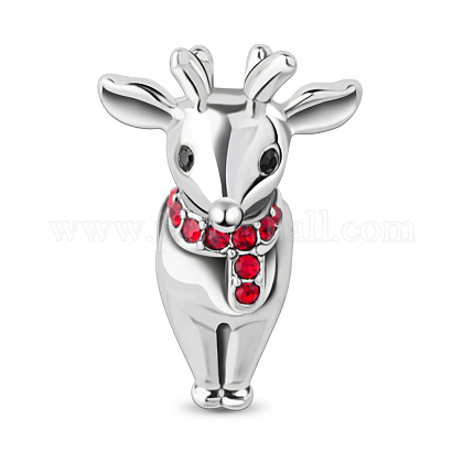 Perles de renne de Noël / cerf de tinysand® en argent sterlingTS-C-061-1