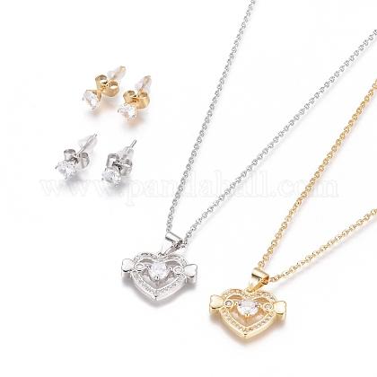 304 Stainless Steel Jewelry SetsSJEW-F214-10-1
