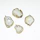 Natural Geode Agate Druzy Slice PendantsG-L461-04B-1