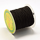 Cordon elástico redondo, con el exterior de la fibra y el caucho en el interior, negro, 0.8 mm; aproximamente 63~65 m / rollo