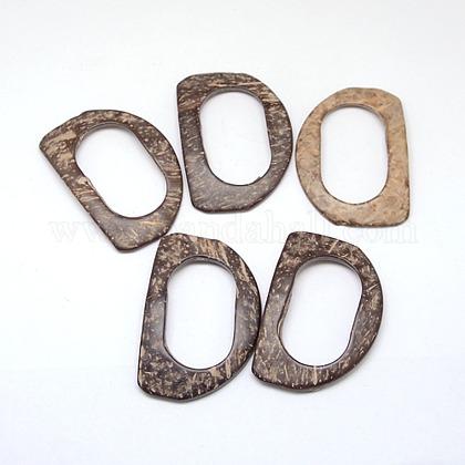 Medio hebillas de coco redondoX-BUTT-O001-08-1