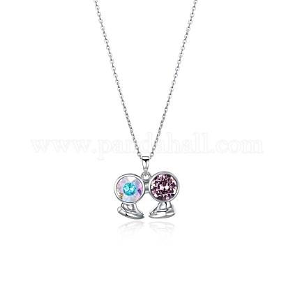 Austrian Crystal Pendant NecklacesNJEW-BB34127-A-1