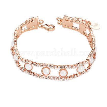 Pulsera de latón chapado en oro rosa de shegrace®JB44A-1