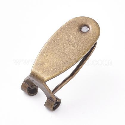 Brass Stud Earring FindingsKK-L195-01AB-NF-1