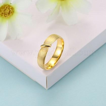 Anillos de dedo de moda de plata esterlinaRJEW-BB29188-C-7-1