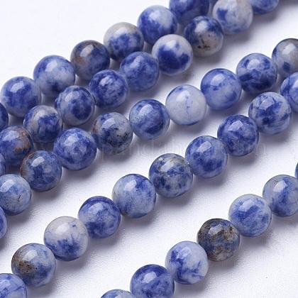 Natural Blue Spot Jasper Beads StrandsG-D855-10-6mm-1