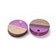 Colgantes de resina y madera de nogal de 8 coloresRESI-X0001-30A-2