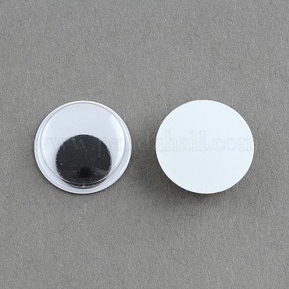 Черный и белый покачиваться гугли глаза Кабошоны DIY скрапбукинга ремесла игрушка аксессуарыX-KY-S002-15mm-1