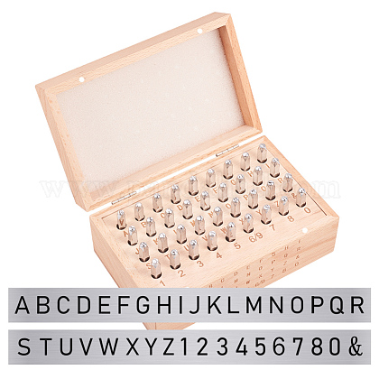 Iron Seal StampsAJEW-BC0005-26P-1