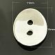 925 botones de dos agujeros de plata esterlinaX-STER-A018-34-1