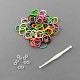 人気かぎ針付きクラフトキットカラーゴムブレスレットDIYX-DIY-R001-01-1