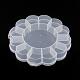 Recipientes de almacenamiento de abalorios de plástico de floresCON-Q023-21-3