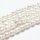 Hebras de perlas ovaladas de agua dulce cultivadas naturalesPEAR-R015-45-5