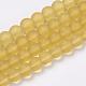 Chapelets de perles en verre transparente  GLAA-Q064-11-10mm-1