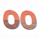Colgantes de resina y madera de nogalRESI-S358-48-1