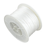 Hilo de nylon redondo, para la toma de nudo chino, blanco, 1 mm; 100 yardas / rollo (300 pies / rollo)
