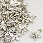 Tibetan Style Alloy Pendants, Lead Free, Cadmium Free and Nickel Free, Antique Silver, 13.5mm long, 10.5mm wide, 3mm thick hole: 1.5mm