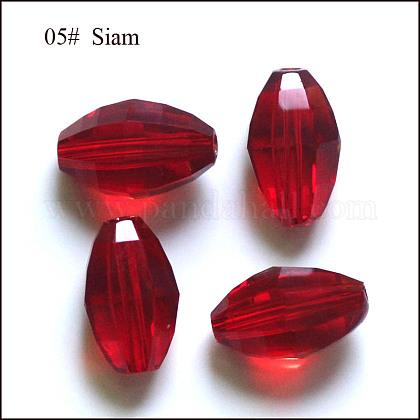 Imitation Austrian Crystal BeadsSWAR-F056-9x6mm-05-1