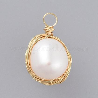 Perla barroca natural perla keshiPALLOY-JF00409-1