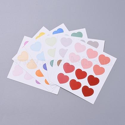Etiquetas engomadas decorativas del patrón del corazónDIY-L037-I01-1