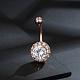 Brass Piercing JewelryAJEW-EE0006-77RG-2