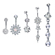 Brass Piercing JewelryAJEW-EE0006-86P-1