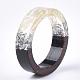 Resina epoxica & anillos de madera de ébanoRJEW-S043-01D-05-3