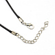Waxed Cord Necklace Making with Iron FindingsX-NJEW-R229-2.0mm-3