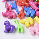 Billes de plastique polystyrène (ps), forme animale mixte, couleur mixte, 14~27x14~25x8~11mm, Trou: 3.5~4mm