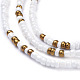 Glass Seed Beads Chain Belts NJEW-C00009-3