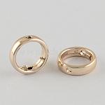 Cadres du perle en alliage, anneau, or clair, 12x3mm, Trou: 1mm