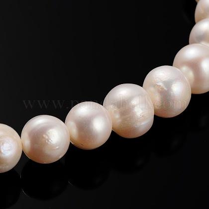 Hebras de perlas de agua dulce cultivadas naturalesPEAR-E002-31-1