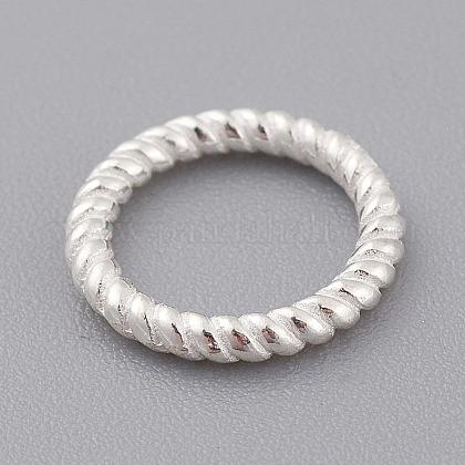 925 anillos de enlace de plata de leyX-STER-T002-292S-1