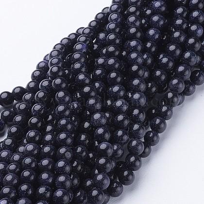Synthetic Blue Goldstone Beads StrandsGSR6mmC053-1