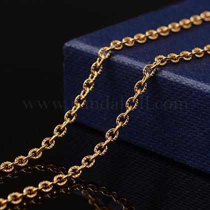 Chaînes de câbles texturées en 304 acier inoxydable avec placage sous videCHS-H007-42G-1