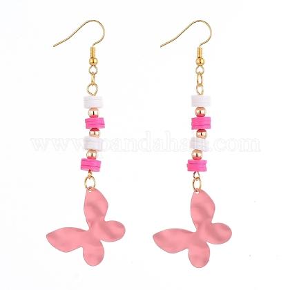 Butterfly Dangle EarringsEJEW-JE04085-02-1