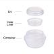 5g PP Plastic Portable Mushroom Cream JarMRMJ-BC0001-39A-3