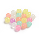 Luminous Acrylic Beads, Glow in the Dark, Round, Colorful, 9.5mm, Hole: 2.5mm